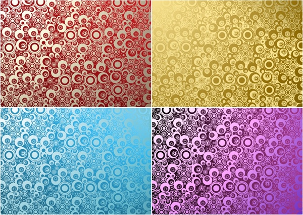 abstract pattern templates modern colored small circles decor