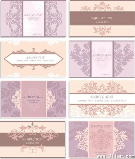 card cover templates elegant retro design symmetric decor