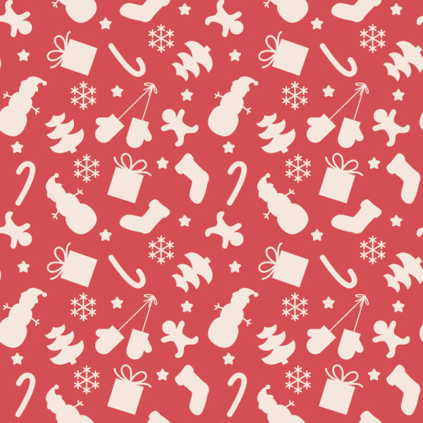 pattern christmas elements seamless vector set