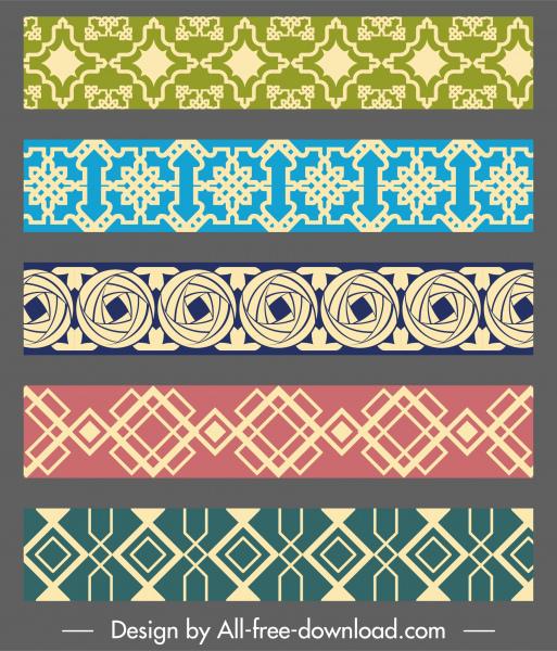 pattern elements templates elegant classical flat symmetric repeating