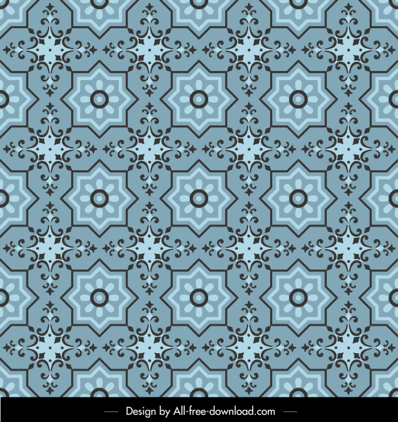 pattern template colored classical repeating symmetrical decor