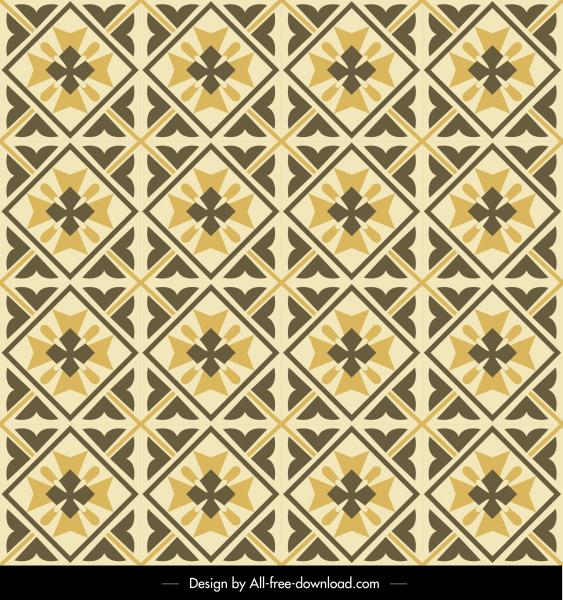 pattern template flat retro symmetric repeating design
