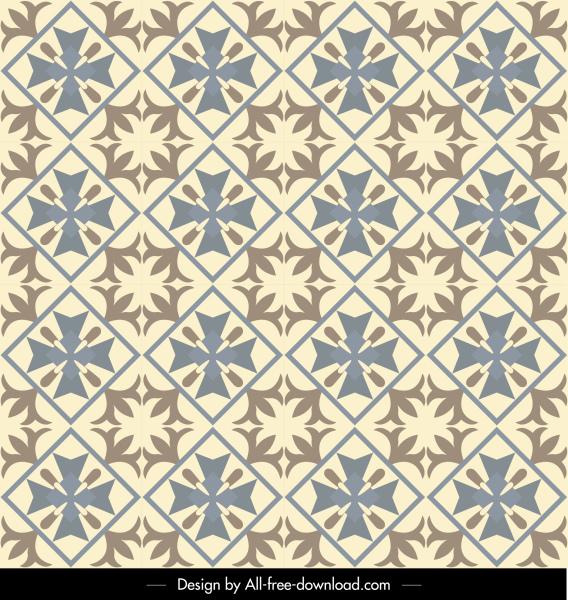pattern template flat symmetrical retro decor