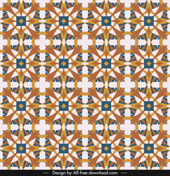 pattern template multicolored repeating symmetrical seamless shapes