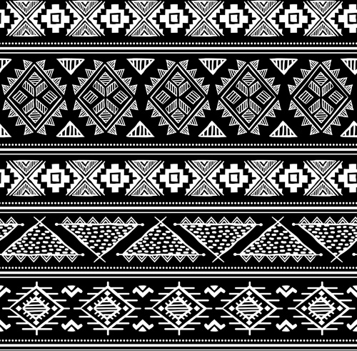 pattern white floral ornaments seamless vector