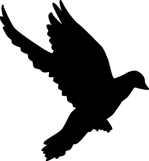 peace dove silhouette vector illustration