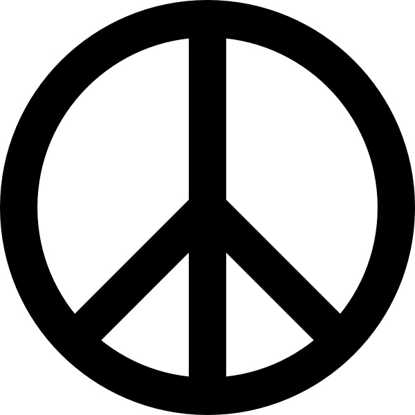 Peace Sign Clip Art Free Vector In Open Office Drawing Svg Svg