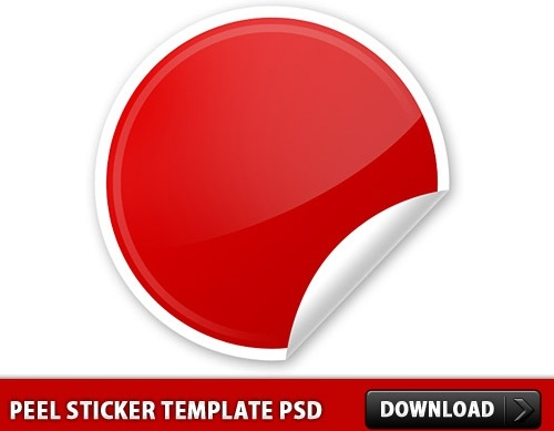 Peel Sticker template PSD Free psd in Photoshop psd ( .psd ) file ...