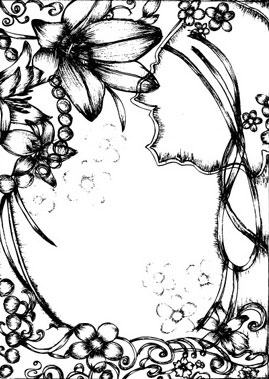 Pen Drawing Style Flower Border Clip Art Free Vector In Encapsulated