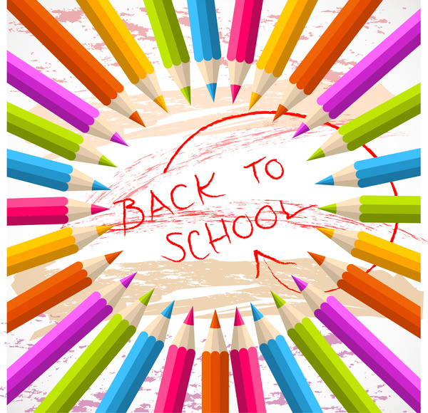 pencil back to school background