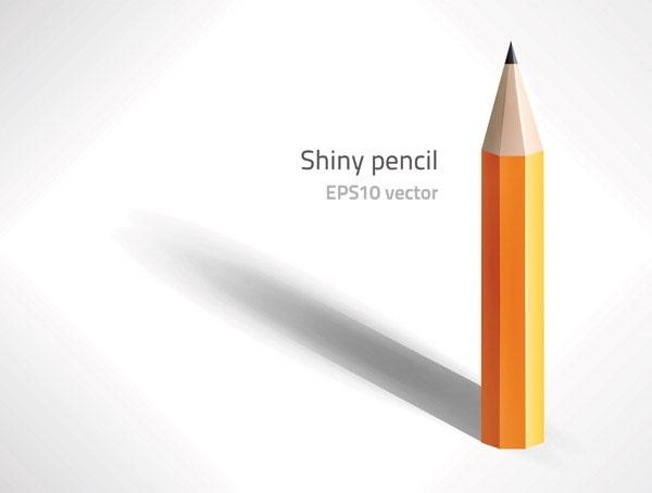 pencil icon design vertical closeup realistic style