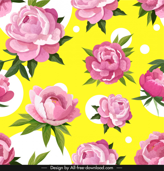 peonies petals background colorful classical handddrawn sketch
