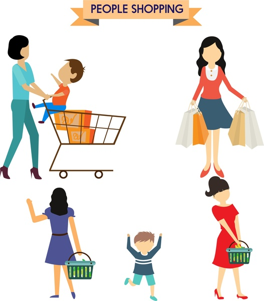 people shopping vector free vector download  7 939 free vintage car clipart free vintage car clipart black and white