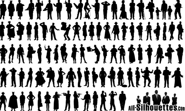 people silhouette ai free vector download  61 788 free