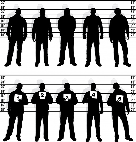 hidden people icons black silhouette design