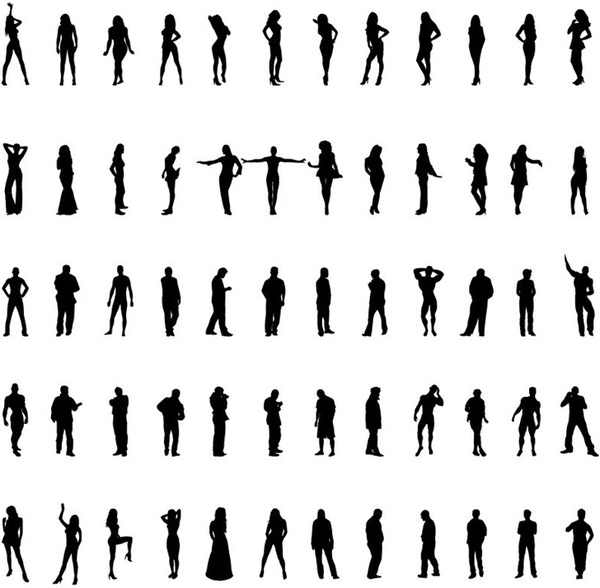 business people silhouettes photoshop free vector download