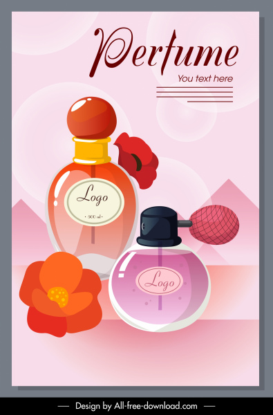 perfume advertising poster bright colorful elegant decor