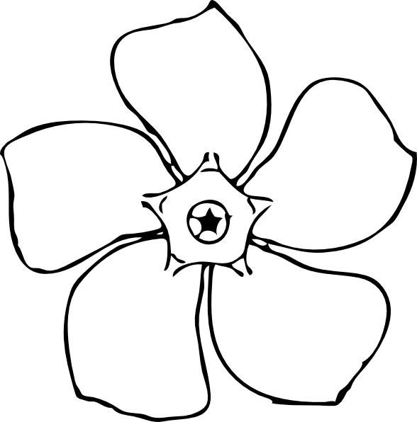Periwinkle flower top view clip art free vector in open office periwinkle flower top view clip art mightylinksfo