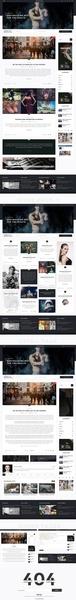 personal blog psd design