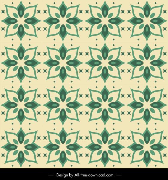 petals pattern template classical repeating sketch green design