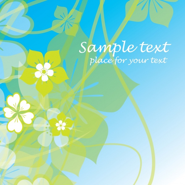 floral background template modern bright colored flat blurred