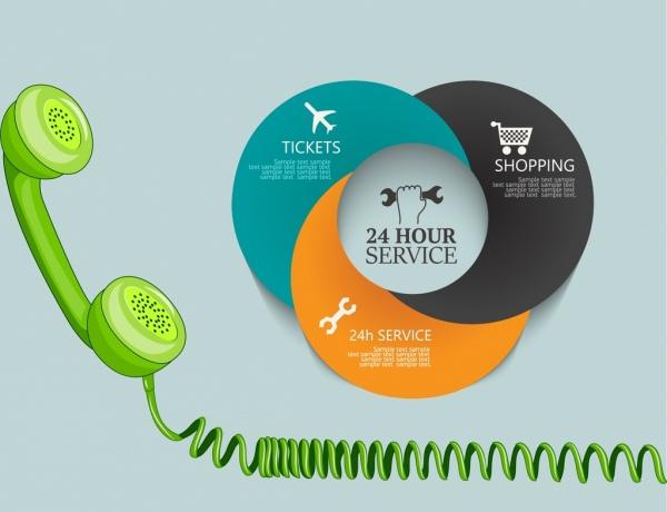 phone operation advertising multicolored modern design circles decoration
