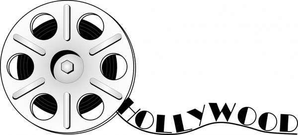 movie background black white film reel icon sketch