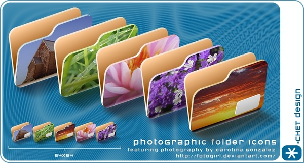 photoGraphic Folder Icons icons pack