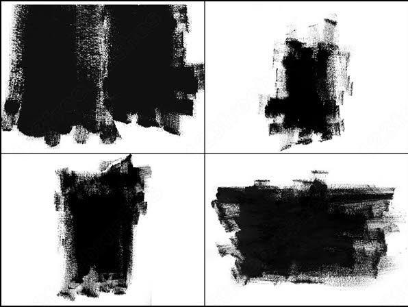 photoshop 7.0 & higher � large paint smear masking brush
