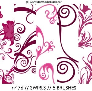 PHOTOSHOP BRUSHES : swirls