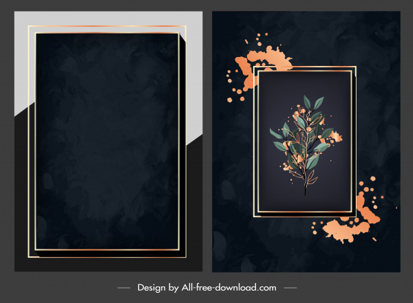 picture frame backgrounds elegant dark plain grunge design