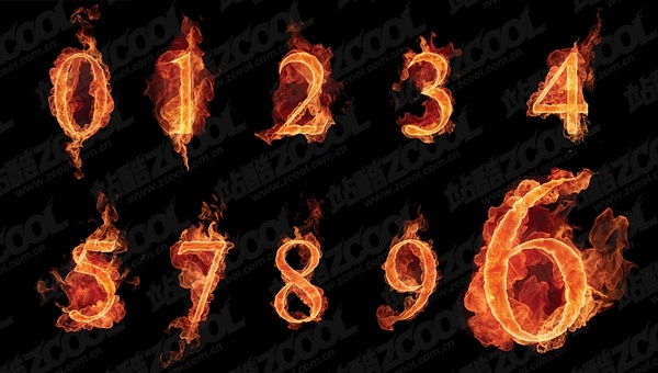 picture of the burning of arabic numerals
