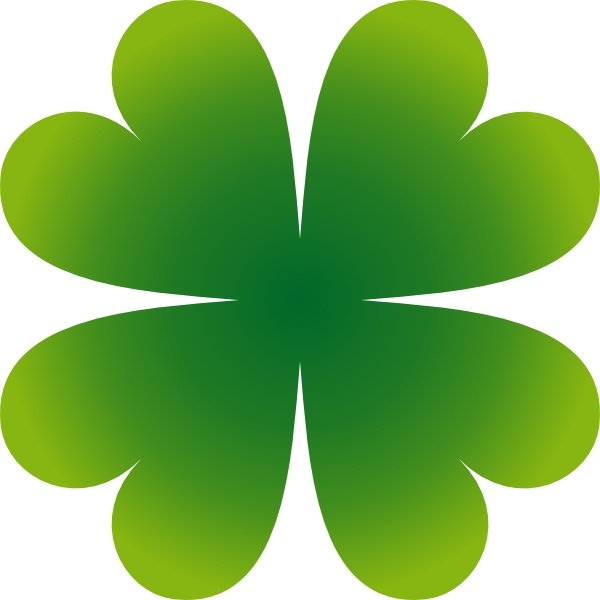 pierig four leaf clover clip art free vector in open office drawing