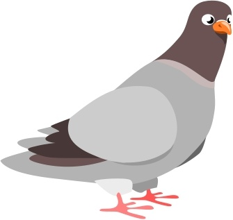 Pigeon Free Vector In Open Office Drawing Svg Svg Vector