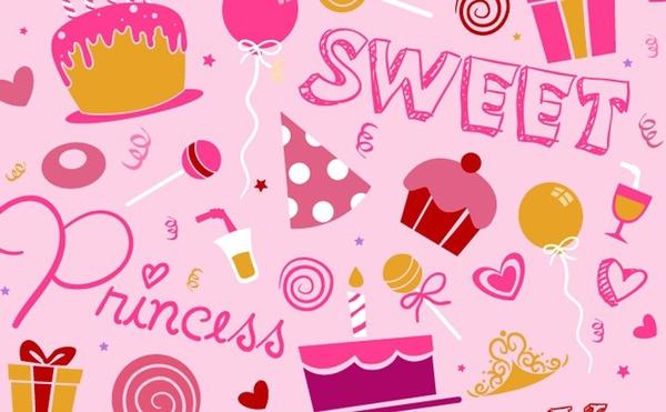 birthday background pink decoration eventful style