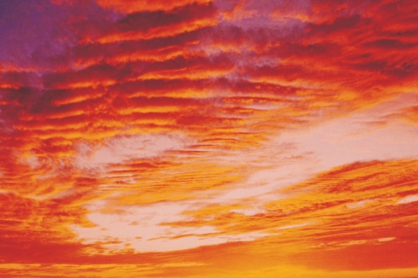 pink clouds sky hd picture