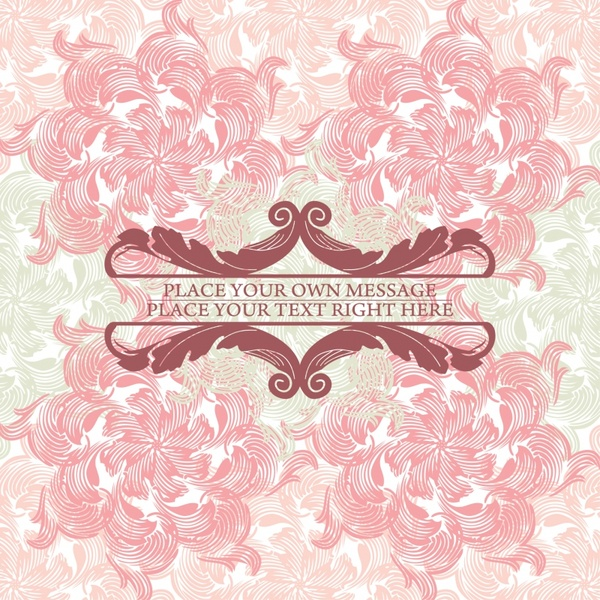 pink floral background vector line art free vector in encapsulated