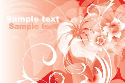 pink flower abstract background vector graphics