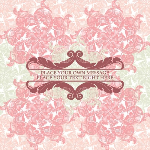 pink pattern background 02 vector