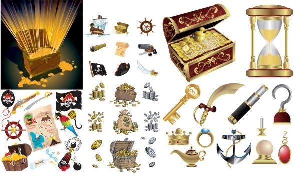 pirate treasure series vector
