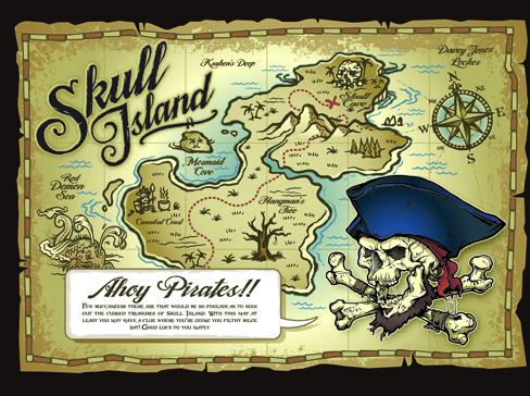 pirates adventures maps vector