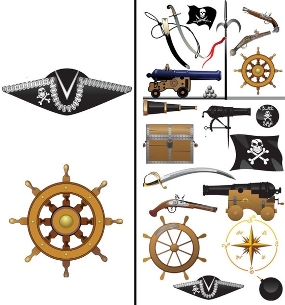 pirates clip art equipment and supplies