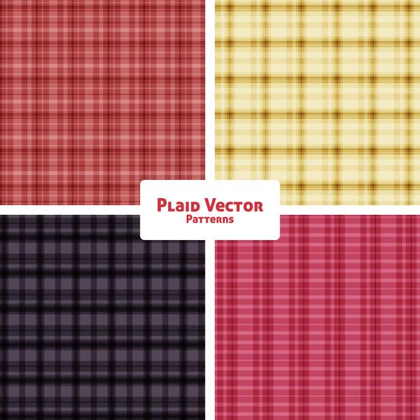 plaid fashion vector patterns