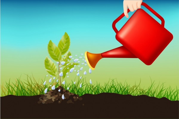 plant background growing tree icon watering activity