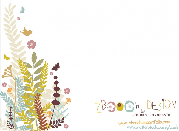 nature background flowers birds icons decor classical design