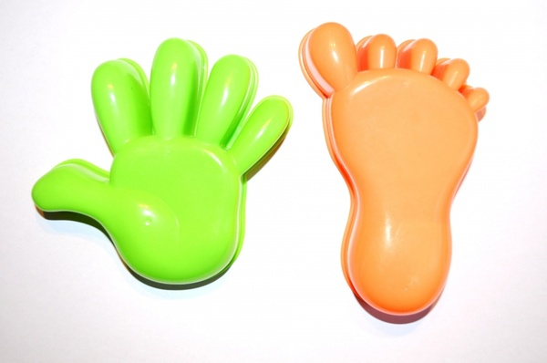 plastic model of hand and foot
