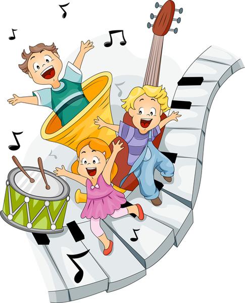playing children cartoon vector set