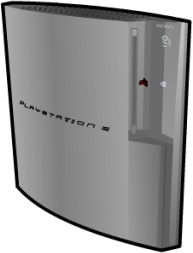 Playstation 3 standing silver