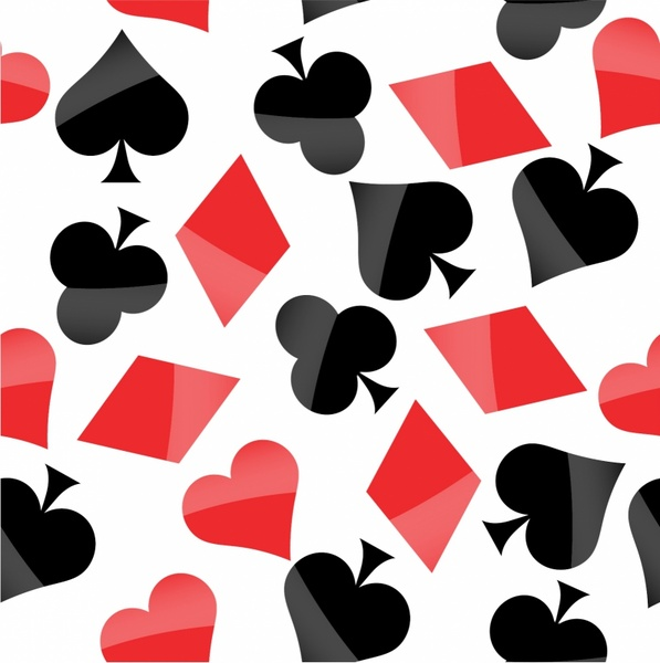 Poker signs seamless pattern