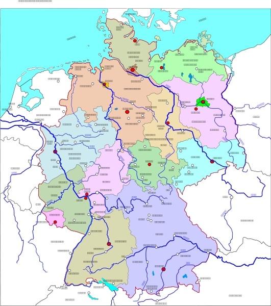 Deutschland Karte Free Vector Download 12 Free Vector For
